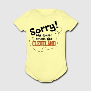Cleveland Diaper - Short Sleeve Baby Bodysuit