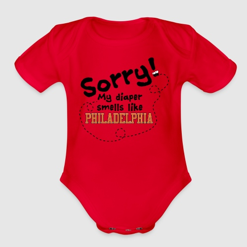Philly Diaper - Organic Short Sleeve Baby Bodysuit