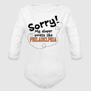 Philly Diaper - Long Sleeve Baby Bodysuit