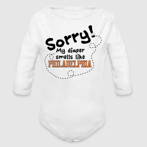 Philly Diaper - Organic Long Sleeve Baby Bodysuit