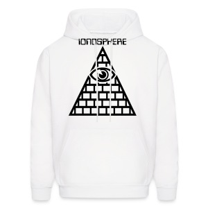 IONOSPHERE Band Merch. white Eye Hoody - Men's Hoodie