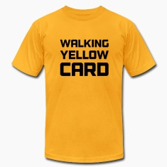 Walking Yellow Card Men's Tee