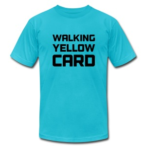 Walking Yellow Card Men's Tee - Men's T-Shirt by American Apparel