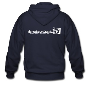 AmateurLogic Zipper Hoodie (Art on both sides) - Men's Zip Hoodie