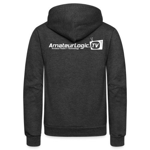 AmateurLogic.TV Fleece Hoodie (Art on both sides) - Unisex Fleece Zip Hoodie