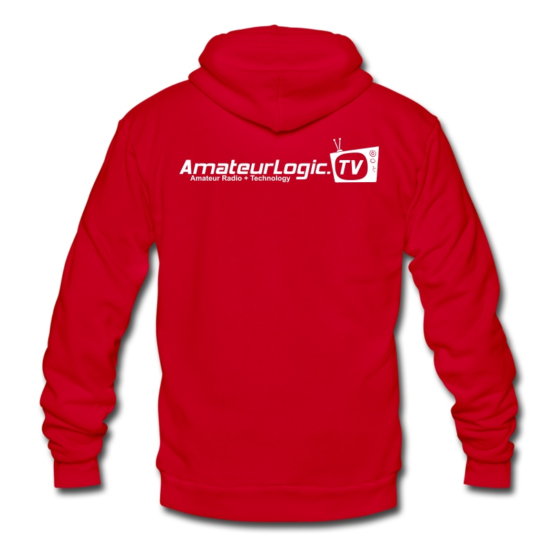 AmateurLogic.TV Fleece Hoodie (Art on both sides) - Unisex Fleece Zip Hoodie by American Apparel
