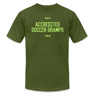 Accredited Soccer Gramps Men's Tee - Men's T-Shirt by American Apparel