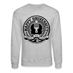 Nappy University w/Crest Men's Crewneck Sweatshirt - Crewneck Sweatshirt