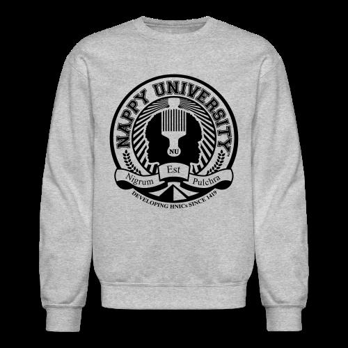 Nappy University w/Crest Men's Crewneck Sweatshirt - Crewneck Sweatshirt