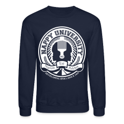 Nappy University w/Crest Men's Crewneck Sweatshirt (rev) - Crewneck Sweatshirt