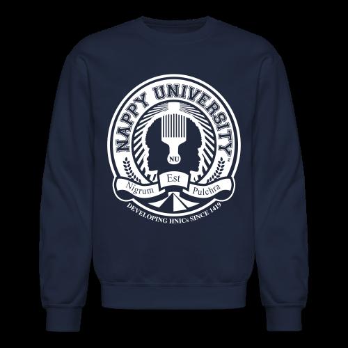 Nappy University w/Crest Men's Crewneck Sweatshirt (rev) - Crewneck Sweatshirt