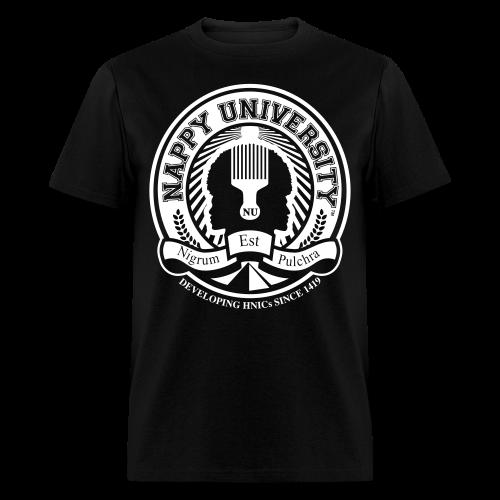 Nappy University w/Crest Men's Standard Weight T-Shirt (rev) - Men's T-Shirt
