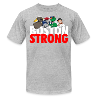 T-Shirts ~ Men's T-Shirt by American Apparel ~ Boston Strong Mascots12