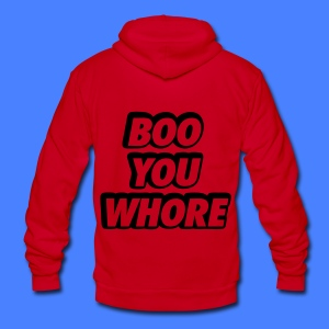 Boo You Whore Zip Hoodies & Jackets - Unisex Fleece Zip Hoodie by American Apparel