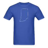 T-Shirts ~ Men's T-Shirt ~ Indiana Outline