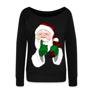 Santa Clause Shirts Women's Christmas Sweatshirts - Women's Wideneck Sweatshirt