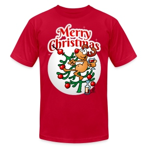 Reindeer in a Christmas tree - Merry Christmas - Men's T-Shirt by American Apparel