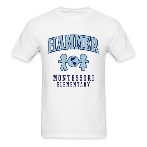Men's T-shirt (Light Blue Logo) - Men's T-Shirt