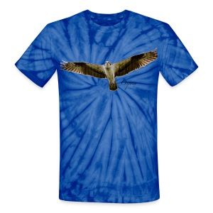 Osprey on Tied-dye - Unisex Tie Dye T-Shirt