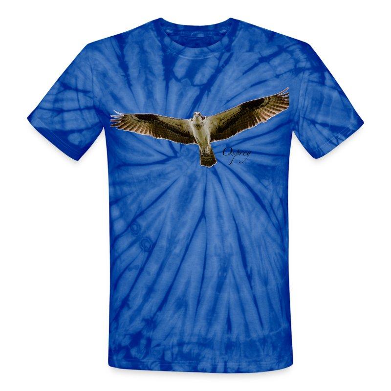 Osprey on Tied-dye - Unisex Tie Dye T-Shirt