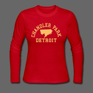 Chandler Park, Detroit - Women's Long Sleeve Jersey T-Shirt