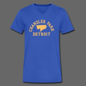 Chandler Park, Detroit - Men's V-Neck T-Shirt by Canvas