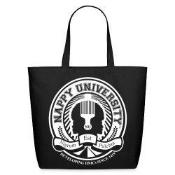 Nappy University w/Crest Eco-Friendly Cotton Tote - Eco-Friendly Cotton Tote