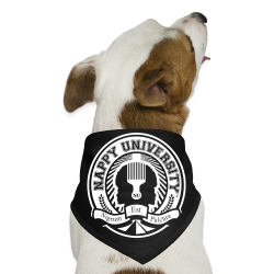 Nappy University w/Crest Dog Bandana - Dog Bandana