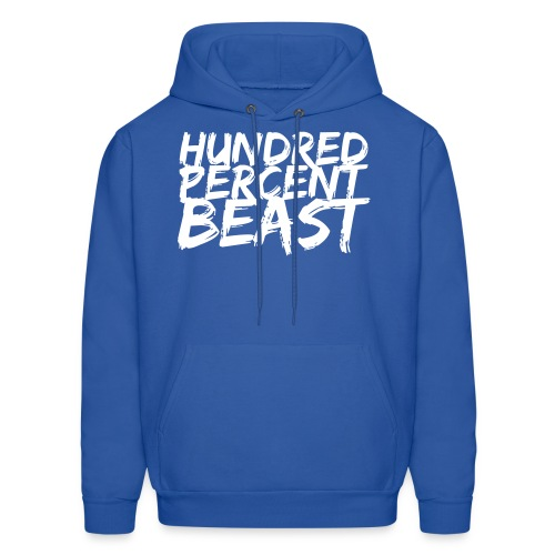 100% beast hoodie Mens - Men's Hoodie