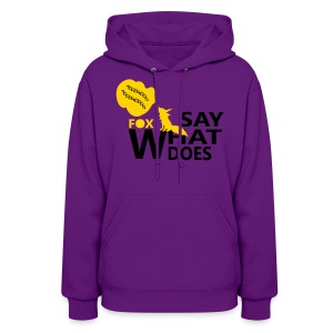 What does the fox say cool Women's hooded sweatshirt - Women's Hoodie