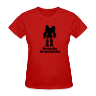 T-Shirts ~ Women's T-Shirt ~ [wecanlive]