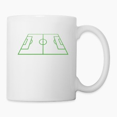 Soccer Playing Court - Pitch - Field Bottles & Mugs