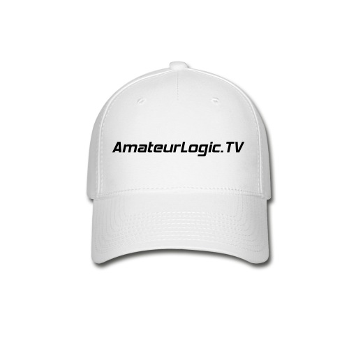 AmateurLogic.TV Ball Cap (Black Logo) - Baseball Cap