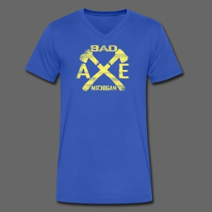 Bad Axe, Michigan - Men's V-Neck T-Shirt by Canvas
