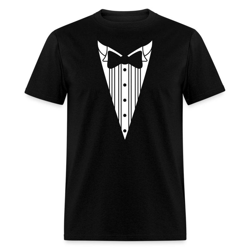 Tuxedo shirt t shirt spreadshirt for Make your own tuxedo t shirt