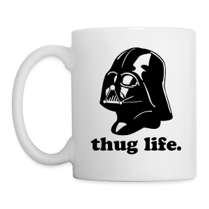 darth vader thug life - dark gray