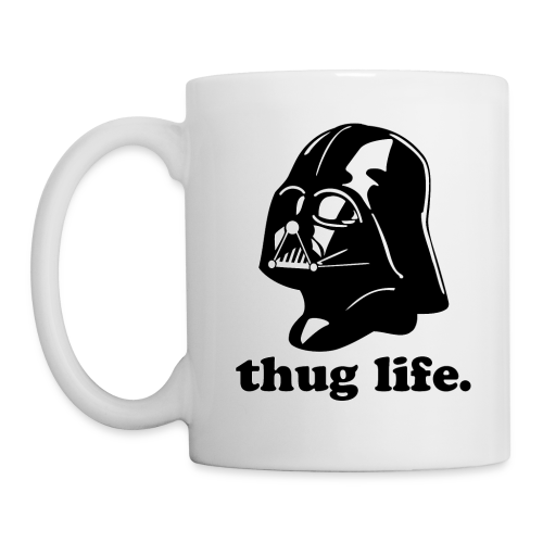 darth vader thug life - dark gray