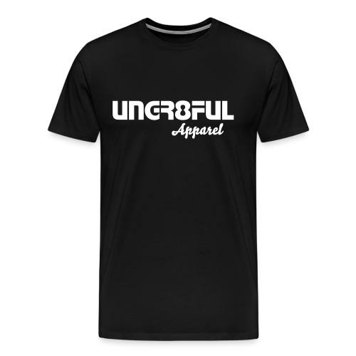 Black Ungr8ful T - Men's Premium T-Shirt