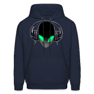 Hoodies ~ Men's Hoodie ~ Alien Contact Music Lover DJ