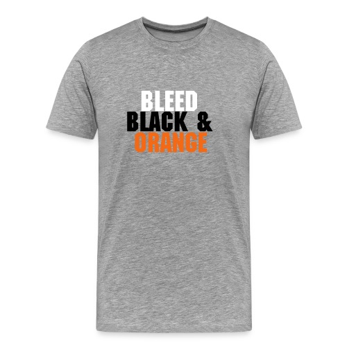 Bleed Black & Orange Cincinnati - Men's Premium T-Shirt