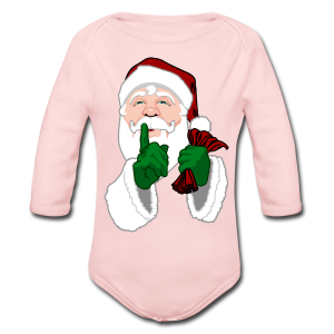 Santa Clause Baby Bodysuit Infant Santa One-Piece - Long Sleeve Baby Bodysuit