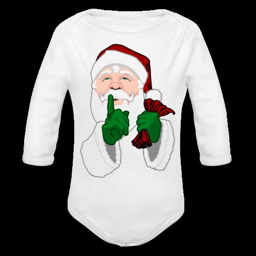 Santa Clause Baby Bodysuit Infant Santa One-Piece - Organic Long Sleeve Baby Bodysuit