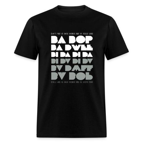 Ba Bop Ba Dwee Black Tee (Men) - Men's T-Shirt