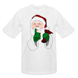 Men's Plus Size Santa Shirt Tall Christmas T-shirt - Men's Tall T-Shirt