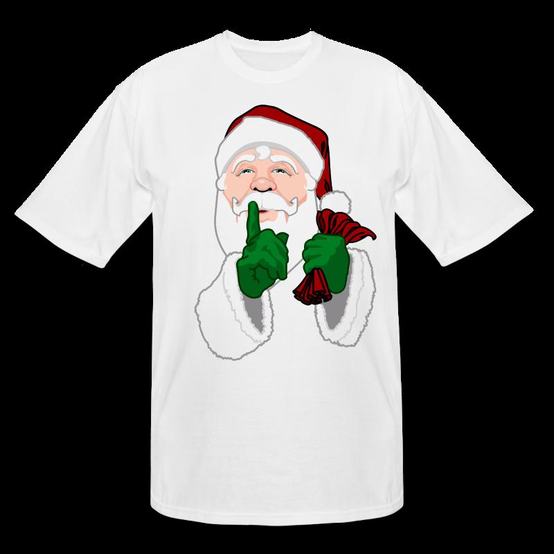 Men 39 s plus size santa shirt tall christmas t shirt t shirt for Plus size tall t shirts