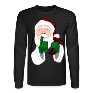 Santa Clause Shirt Men's Festive Christmas Shirts - Men's Long Sleeve T-Shirt