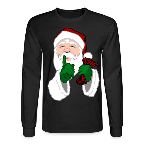 Santa Clause Shirt Men's Festive Christmas Shirts - Men's Long Sleeve T-Shirt