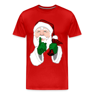 Santa Clause T-shirt Men's Festive Christmas Shirts - Men's Premium T-Shirt