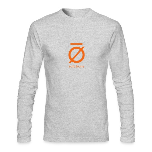 Silent O Long Sleeve Tee with Orange Logo - Men's Long Sleeve T-Shirt by Next Level