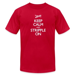 Keep Calm and Stripple On - Men's - Men's T-Shirt by American Apparel